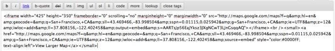 googlemaps-paste-code