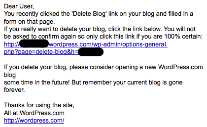 how to delete email on blog